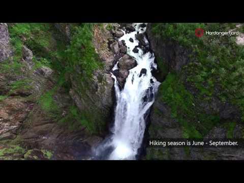 Hiking to Vøringsfossen waterfall in Norway