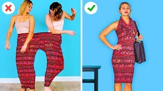 천재적인 옷 끌팁과 여성스러운 트릭 || 웃긴 공예 b…