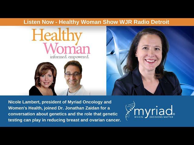 Nicole Lambert on Healthy Woman Show - WJR Radio Detroit