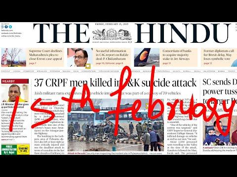 The Hindu Newspaper 15th February 2019