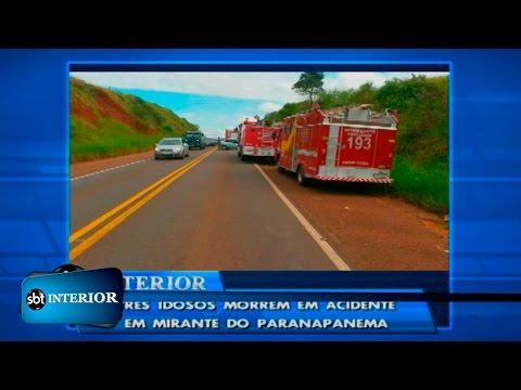 Batida deixa três pessoas mortas em Mirante do Paranapanema