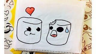 Aprende a dibujar Bombones Tumblr (  How To Draw Marshmallow Tumblr )