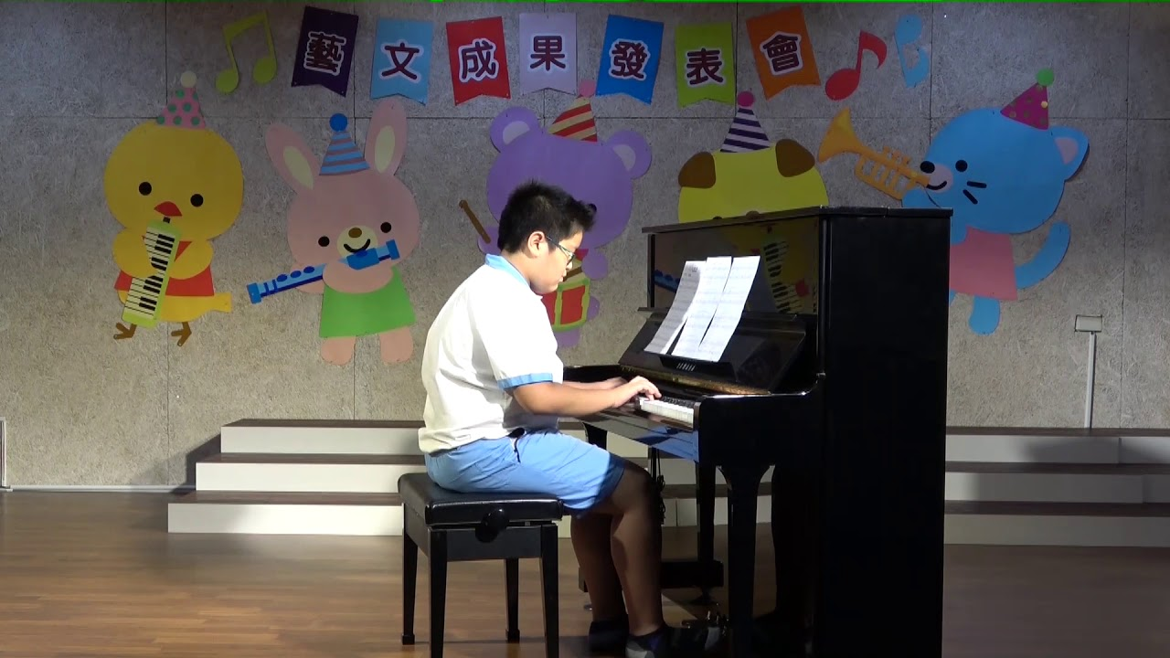 108藝術與人文發表會(六年級)陳瑞言-小夜曲-鋼琴 - YouTube
