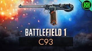 Battlefield 1: C93 Review (Weapon Guide) | BF1 Weapons + Guns | Borchardt C-93 Pistol Gameplay