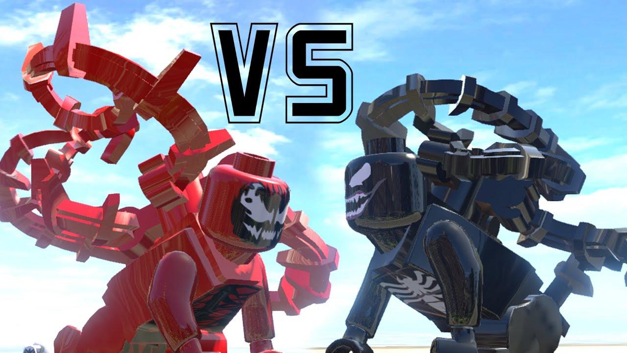venom transformation vs carnage amazing battle fight