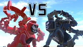 VENOM (TRANSFORMATION) VS CARNAGE - (AMAZING BATTLE FIGHT) LEGO MARVEL SUPER HEROES GAME