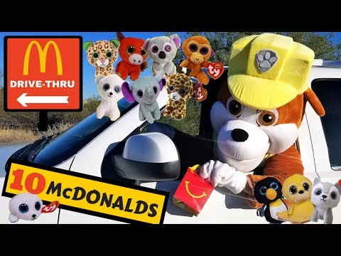 Thumbnail: Paw Patrol Rubble Collects McDonald's Happy Meal Toys in Drive Thru