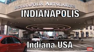Driving INDIANAPOLIS Downtown Indiana USA