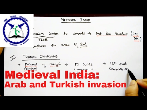 Medieval history of India: Arab and Turkish invasion | SSC CGL | The Vedic Academy