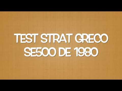 Test Strat Greco SE 500 1980