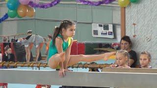 Карина спортивная гимнастика бревно - 1-й юношеский разряд / Karina Artistic Gymnastics Beam