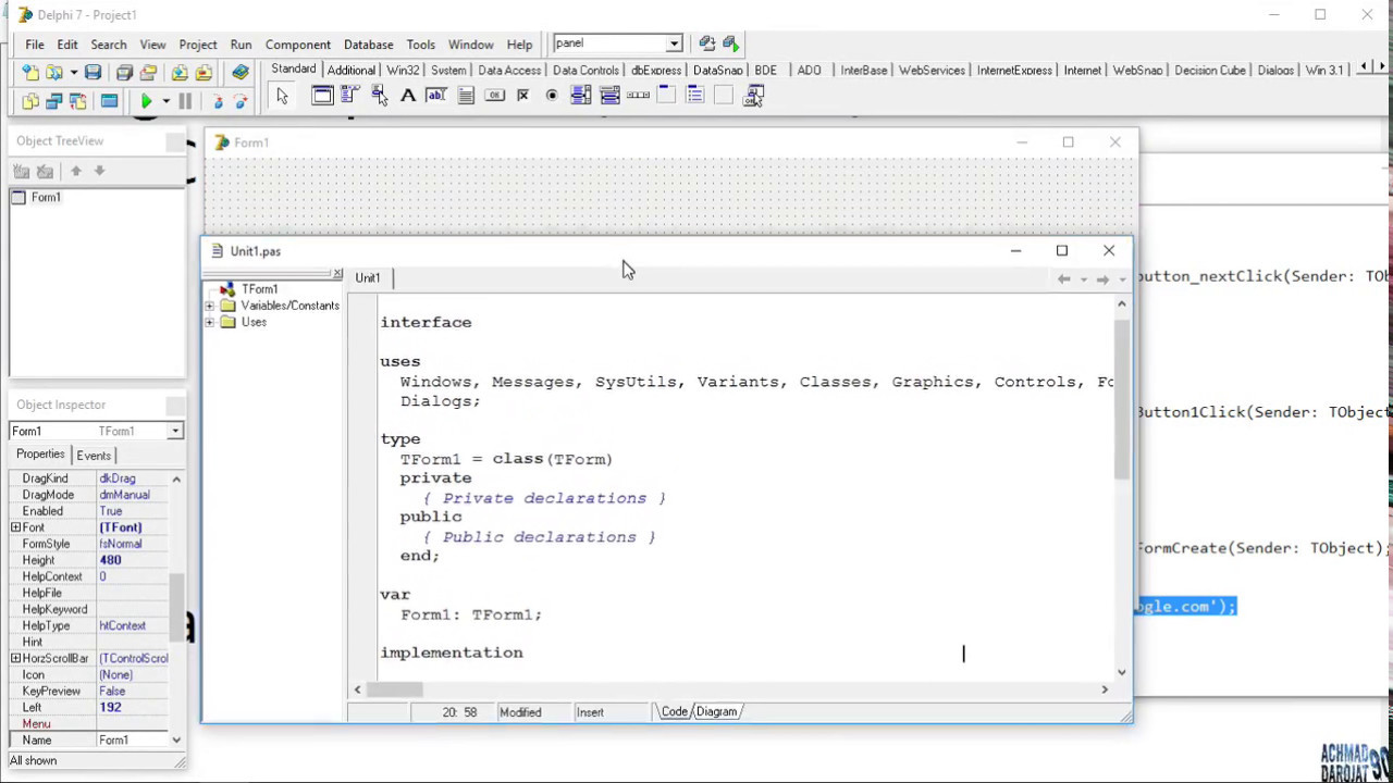 Tutorial Borland Delphi 7 BAB 6 How To Make a Web Browser