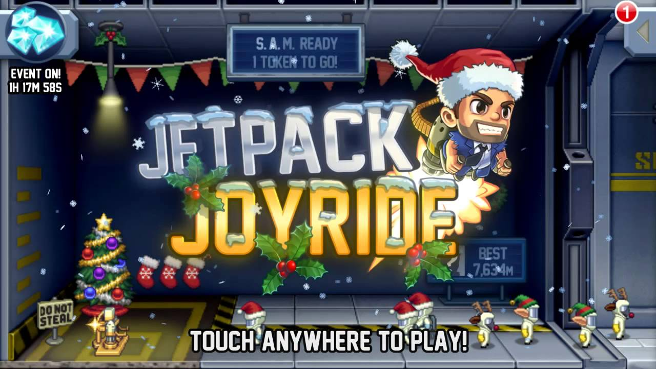 Jetpack Joyride Christmas theme song - YouTube