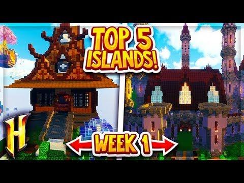 Hypixel Skyblock - Top 5 Best Islands (Week 1 Winners)