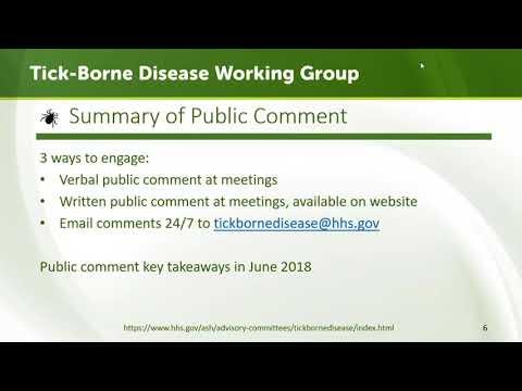 Tick-Borne Disease Working Group Meeting - July 24, 2018
