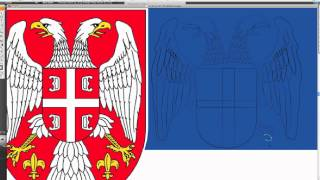 Serbian Flag speed drawing