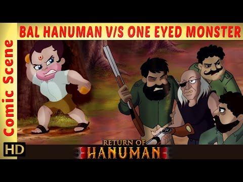 Return of Hanuman | Bal Hanuman Fights with One Eyed Monster | Comic Scene | HD