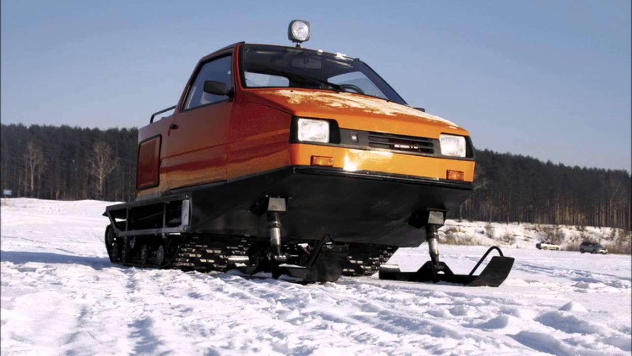 Снегоход своими руками из автомобиля