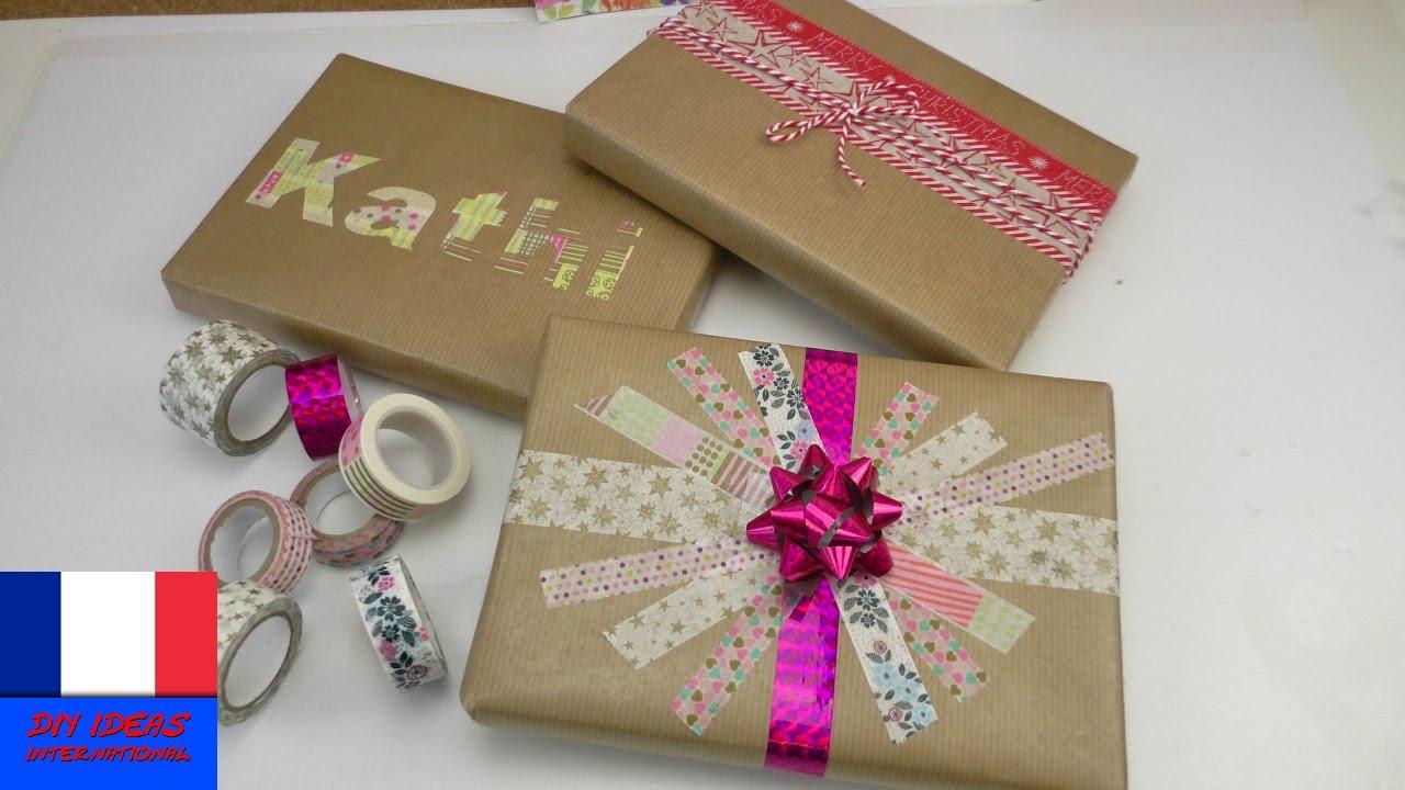 Préféré Super Cadeau décoré avec du Washitape | Idées d'emballages cadeaux  SL64