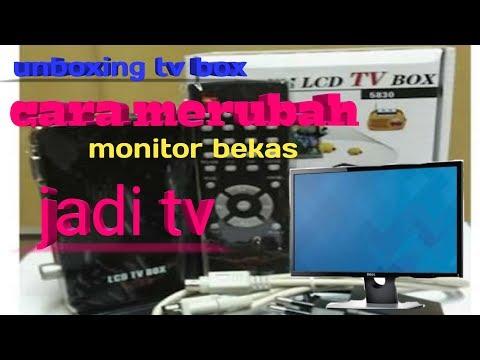 MERUBAH MONITOR JADI TV // unboxing  TV TUNER GADMEI 5821N