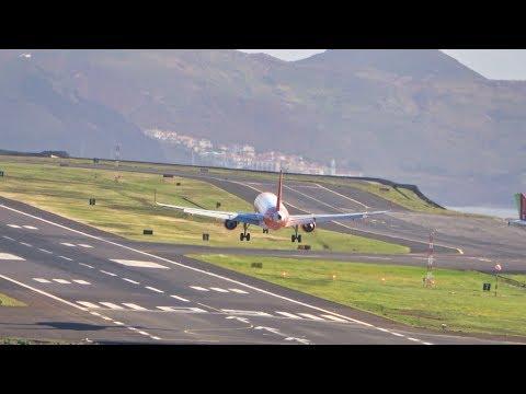 5 LANDINGS & 3 TAKEOFFS ROSÁRIO VIEW At Madeira Airport 09 03 2020