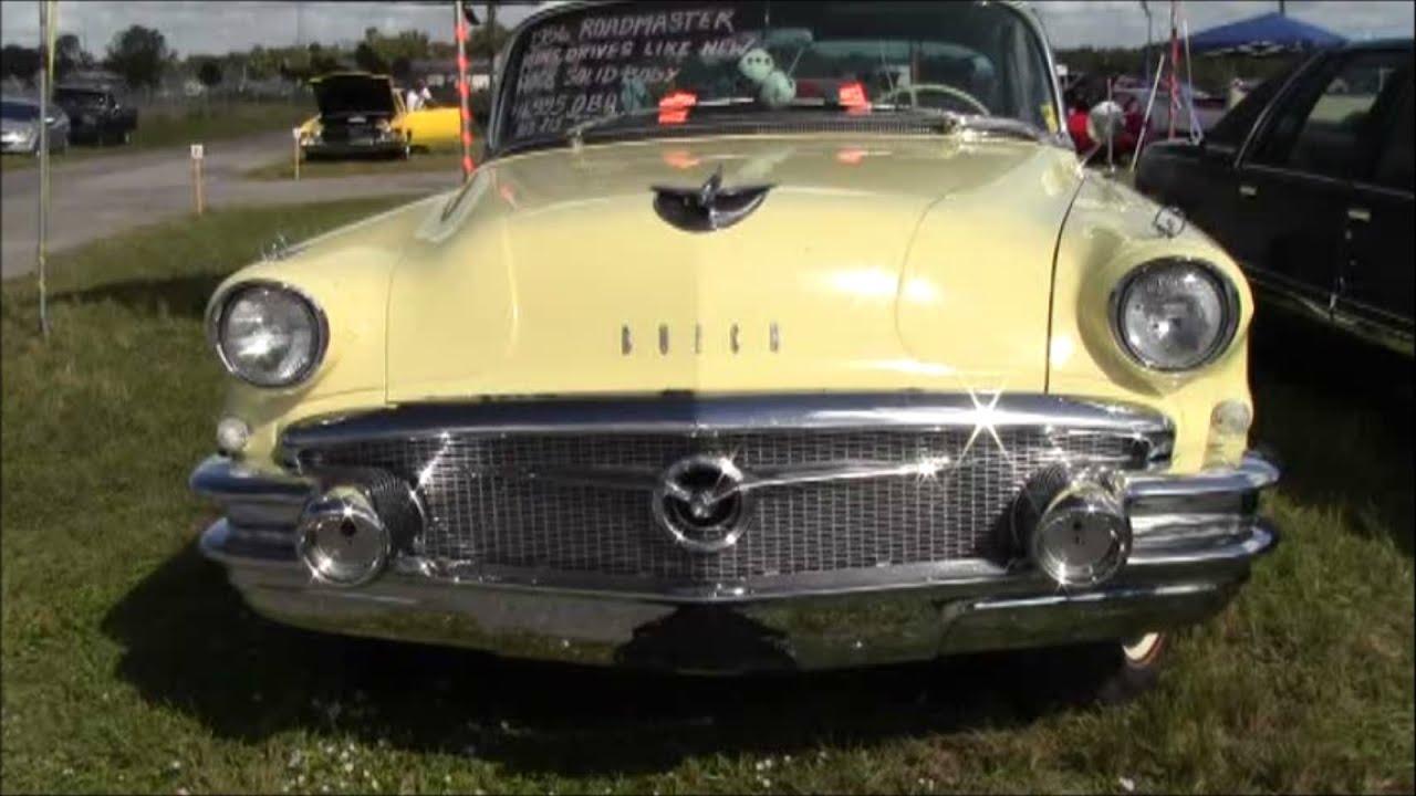 1956 buick roadmaster four door hardtop yelwht zh111615 youtube. Black Bedroom Furniture Sets. Home Design Ideas