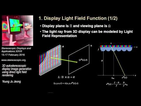 SD&A 2016: 3D autostereoscopic display image generation using direct light field rendering