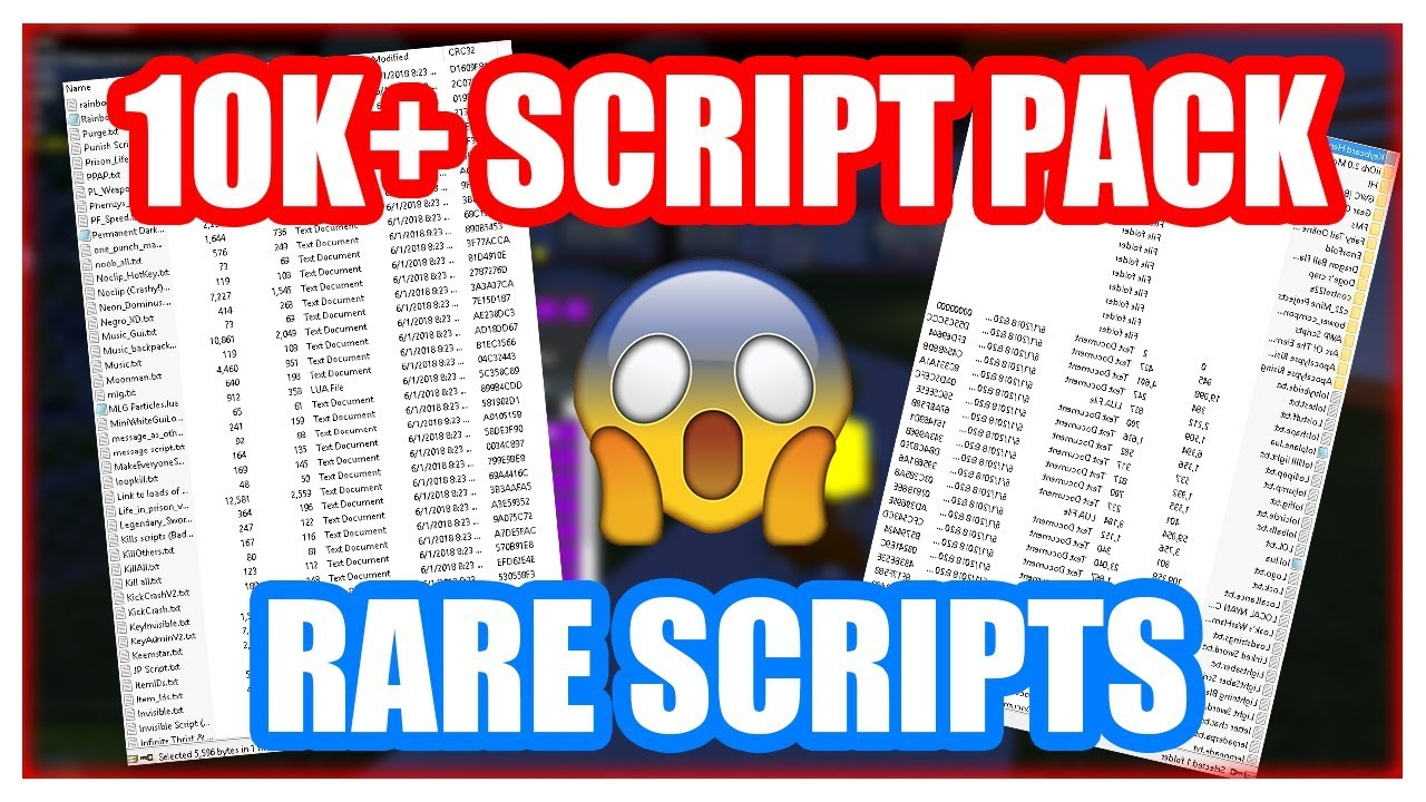 10k Rare Script Pack Roblox Exploiting Youtube