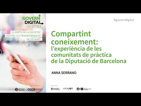 CGD 2017 - Compartint coneixement: l'experiència de la Diputació de Barcelona