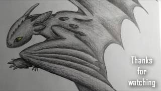 Speed Drawing #1 [Night Fury] + thx for 140 subs.!