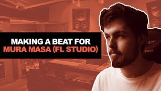 STOCK DRUMS ONLY CHALLENGE! MAKING A HIP HOP BEAT FOR MURA MASA IN FL STUDIO 12