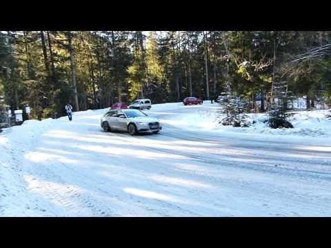 2013 Audi A6 Allroad Quattro in snow, drift