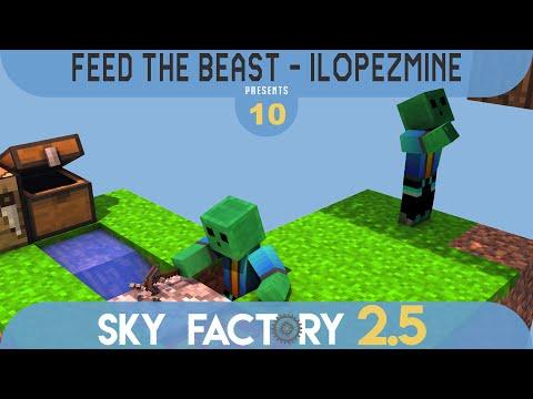 Minecraft Sky Factory 2.5 | Generador de todos los Compressed Cobblestone | #10