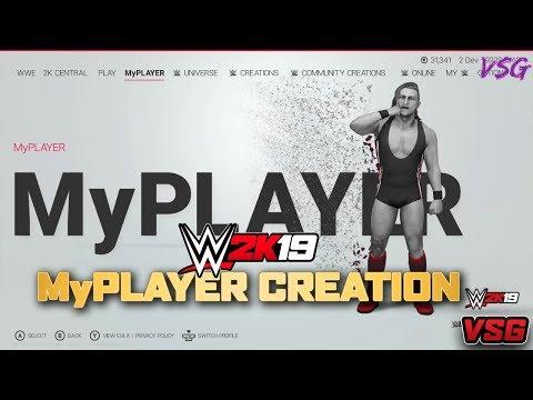 WWE 2K19 MyPlayer Creation, Progression System,  MyCareer Setup