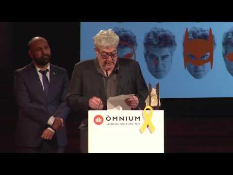 Paraules d'agraïment de Quim Monzó, 50è Premi d'Honor de les Lletres Catalanes