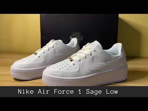 nike-air-force-1-sage-low-|-unboxing-on-feet