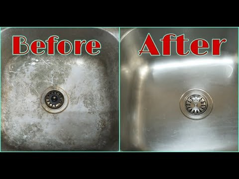 How To Clean Your Kitchen Sink ll Tap & Sink Cleaning Tips In Telugu
