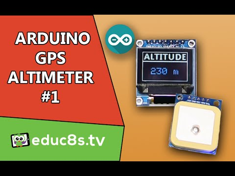 Arduino Project: DIY Altimeter using a NEO UBLOX GPS module and a Color OLED from Banggood.com