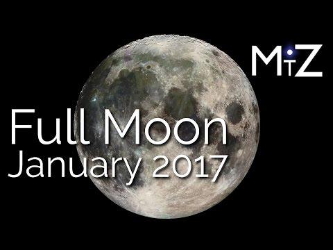 Full Moon January 12, 2017 - True Sidereal...