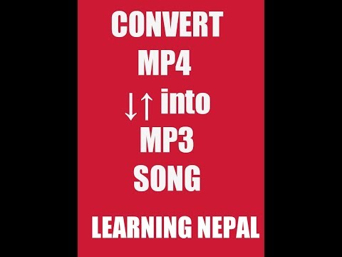 How to convert mp4 to mp3 on android| LEARNING NEPAL