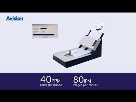 Avision AV1860 Document Scanner