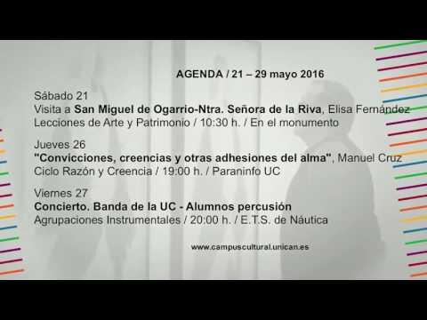 Agenda Campus Cultural UC (Del 21 al 29 de mayo)