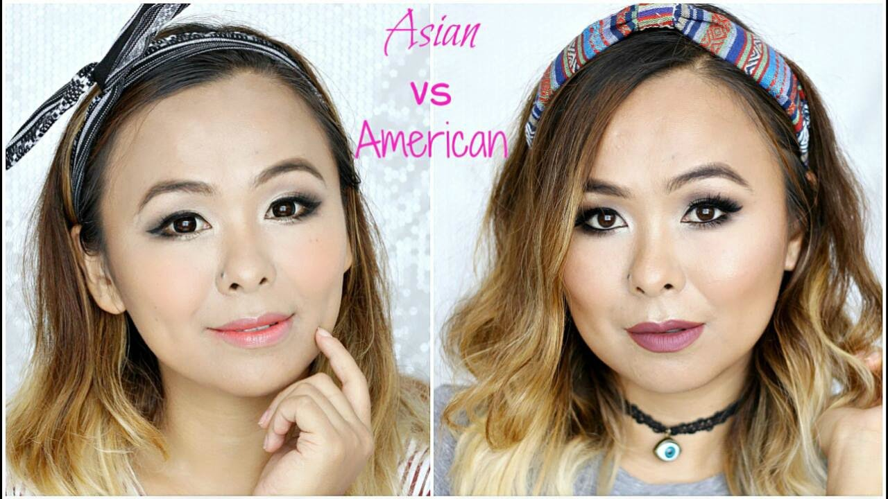 Asian vs American Makeup | Cute vs Glam Grunge - YouTube