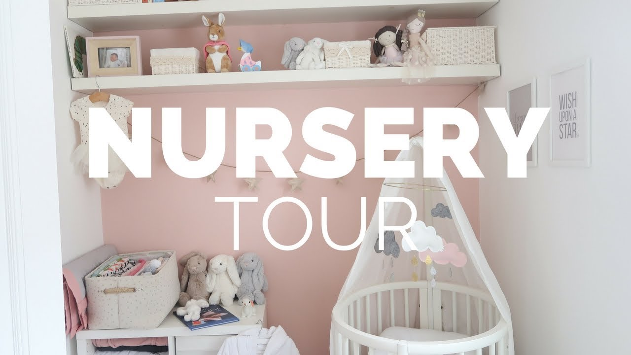 BABY GIRLS NURSERY TOUR  BOX ROOM