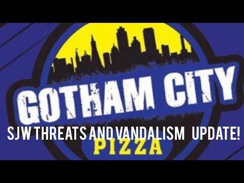 Gotham City Pizza SJW threat and vandalism UPDATE!