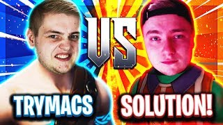 😵🥊TRYMACS vs SOLUTION! | PC vs PS4 in Tilted Towers! | Fortnite Xtreme ESports
