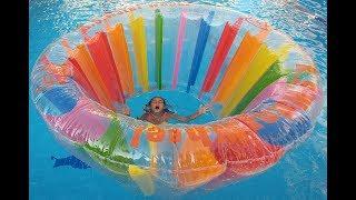 Eski eve gidiyoruz, renkli silindir ile eski evde havuz keyfimiz , eğlenceli çocuk videosu