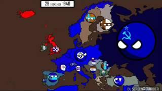 Великая отечественная 2 мировая война (на карте)
