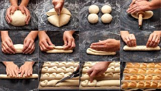 Super Soft & Fluffy Cheese BreadSticks - Hand Kneading Bread Dough