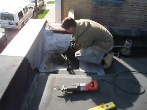 940 Pitner Roof Drain Install Prep Radek 11 23 09 Wmv